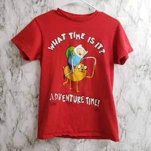 Cartoon Network Adventure Time Finn & Jake Red Tee